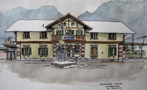 Meiringen, CH train station