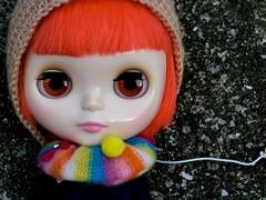 Agnis `s colorful muffler