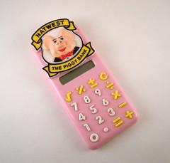 "Pink Pig (midcenturydesign) Tags: pink computer design pig technology kitsch computing calculator piggybank natwest design"" nationalwestminster ""industrial ""product"