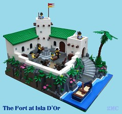 The Fort at Isla D'Or (2 Much Caffeine) Tags: lego armada pirate fortress moc
