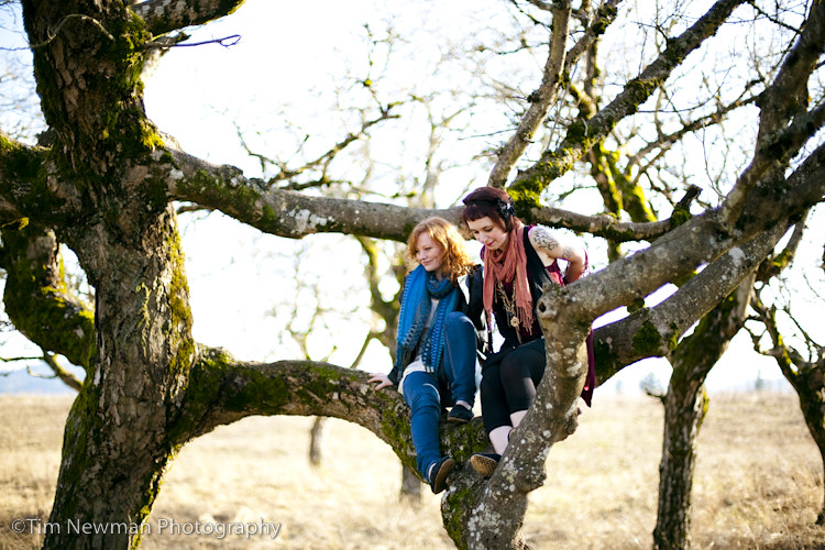 Mo and Katie climb trees
