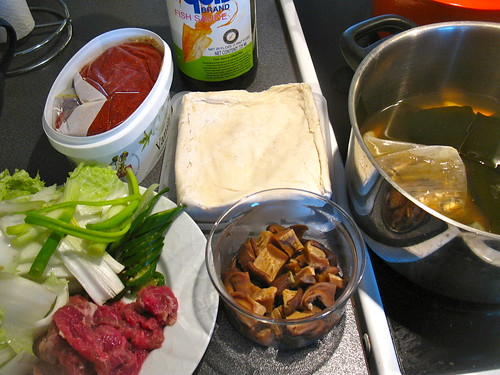 Ingredients for Hot and Spicy Korean Tofu Beef Stew
