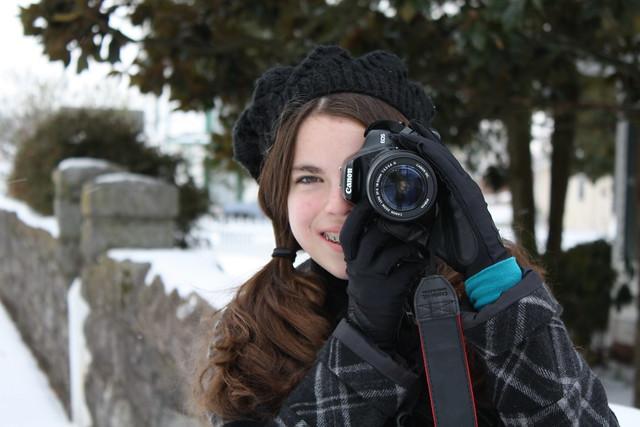tessa with camera