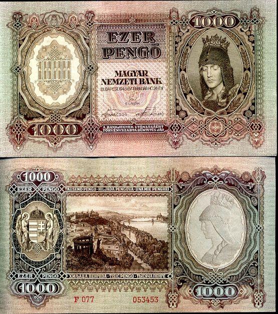 1000 Pengő Maďarsko 1943, P116