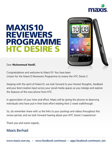 Maxis10 Reviewers Programme