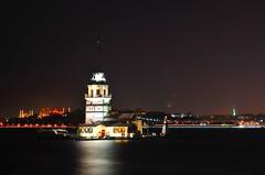 Maiden Tower (Ali Enes M.) Tags: life city travel tower night turkey photography lights nikon trkiye istanbul traveller trkei citylights maiden gece kz kule