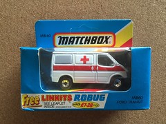 Matchbox MB 1 - 75 Series - MB60 Ford Transit Ambulance (firehouse.ie) Tags: american america usa 911 rescue ambulanzia ambulanz ambulanza ambulancia ambulances krankenwagen zamac miniature diecast metal models toys mb60 mb model toy ambulance transit ford matchbox