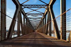 Symmetry (The Whisperer of the Shadows) Tags: geotagged landscapesfromlamancha lamancha puente bridge metal metalic metalico cielo sky symmetry simetria ciudadreal peralvillo manmade structure estructura