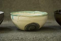 small bowl white with swirl of mixed clay (karenchristine552) Tags: ceramics clay pottery universitycity utata:entry=3 utata:project=goarts westphiladelphia