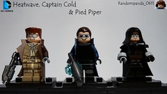 Heatwave, Captain Cold & Pied Piper (Inspired by the Flash TV show) (Random_Panda) Tags: lego figs fig figures figure minifigs minifig minifigures minifigure purist purists character characters dc comics superhero superheroes hero heroes super comic book books the flash rogues captain cold heatwave pied piper