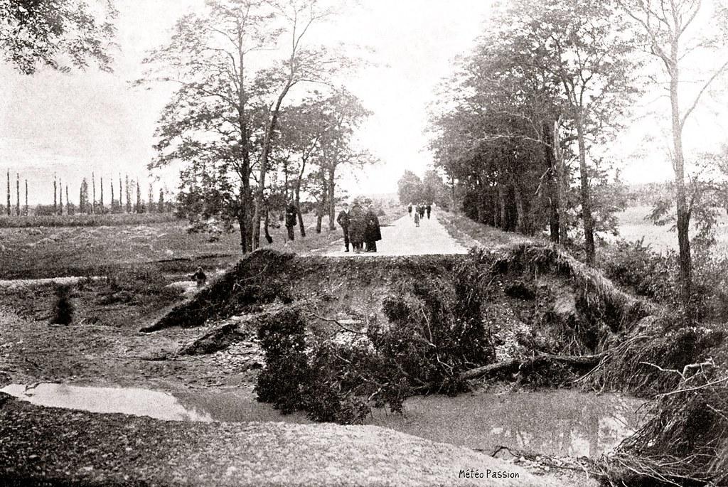 1914 juin Saverdun Ariège pluies orage crue route coupée