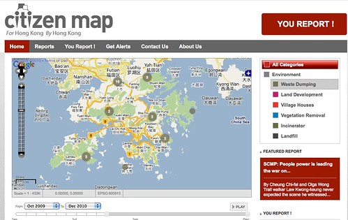 Citizen map Hong Kong