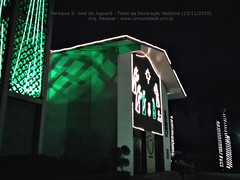 Paroquia S Jose do Jaguare - teste da decoracao natalina (23/11/2010)