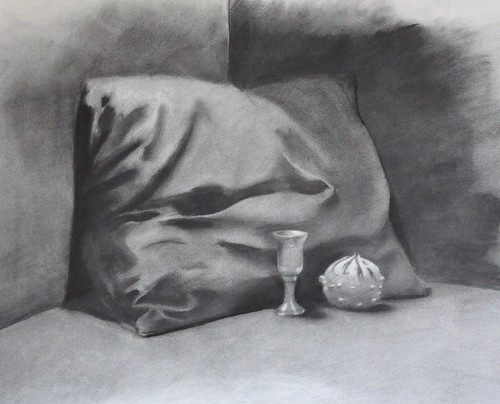 charcoal: pillow, gourd and goblet