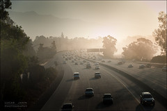 Foggy morning (Lucas Janin | www.lucasjanin.com) Tags: california morning bridge usa mountain plant tree car fog montagne sunrise plante iso200 nikon flickr outdoor voiture explore freeway pont autoroute pasadena nikkor curve arbre brouillard f28 matin leverdesoleil lightroom 134 70mm courbe lightroom3 nikond700 lucasjanin afsnikkor2470mmf28ged sec