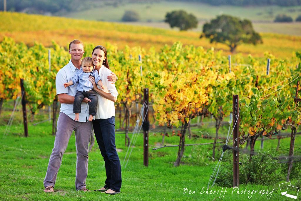 Family portrait san luis obispo california vineyard ben sheriff photography tags ocean
