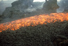 Snow on lava (etnaboris) Tags: italy volcano italia sicily etna contrasts eruption sicilia vulcano lavaflow eruzione colatalavica snowisfallingonredhotflowinglava lanevecadesullalavaincandescente
