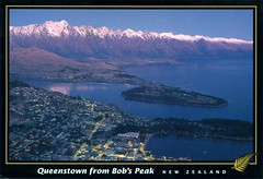 Queenstown (reinap) Tags: newzealand illustration postcard queenstown bobspeak