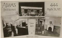 Adams Insurance Company, 444 High Street, Warren, Ohio (Downtown Warren History) Tags: county street ohio st high adams company storefront oh warren insurance trumbull