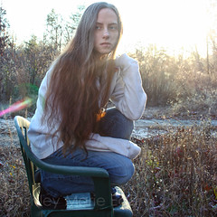She Waited for Winter (Darling Ashes) Tags: trees light selfportrait cold nature hair outdoors