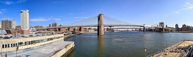 new york city :: brooklyn bridge :: panorama