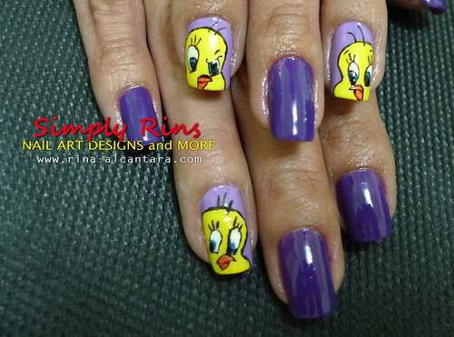 Nail Art Tweety 04