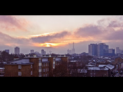 Tower of Babel (flipr.uno) Tags: family wedding friends sunset party vacation sky dog cats holiday snow cute london art ice canon puppy construction kitten mileend eastlondon towerhamlets mileendroad qmul shardtower