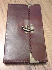 Steampunk 1842 Poetry Blank Leather Journal
