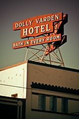 Dolly Varden Hotel (TooMuchFire) Tags: signs typography neon landmarks longbeach font type lettering neonsigns lightroom oldsigns vintagesigns oldhotels vintageneonsigns vintagesignage dollyvarden canon30d dollyvardenhotel oldneonsigns thevarden 335pacificavelongbeachca longbeachlandmarks