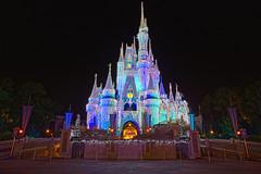 Walt Disney World Christmas - Cinderella Castle (Todd Hurley Photography) Tags: christmas castle ice orlando florida decoration waltdisneyworld hdr cinderellascastle icecicle toddh lakebuenavista cinderellacastle baylake dreamlights canonef1740mmf4l canon5dmark2 waltdisneyworldcastle thhphotography