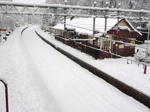 Whitecraigs Station in Winter