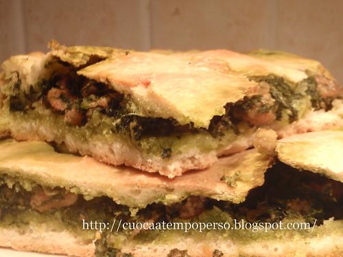 Pizza ripiena crespigno e salsiccia_Alessandra Ruggeri