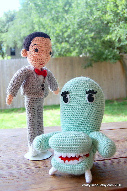 Pee Wee and Chairry amigurumi