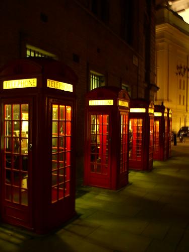 Cabinas teléfonicas en Londres