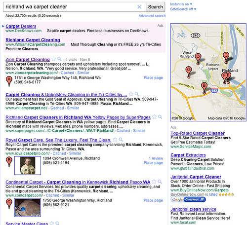 Google Places SERP Displays #2