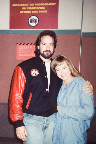 Gary Spatz on set of the Mickey Mouse Club with Nikki Deloach