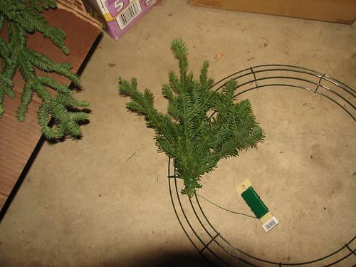 wreath making - first bundle