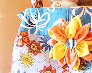 petal fabric flower