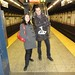 Marc and Stephanie at Fulton Street Station