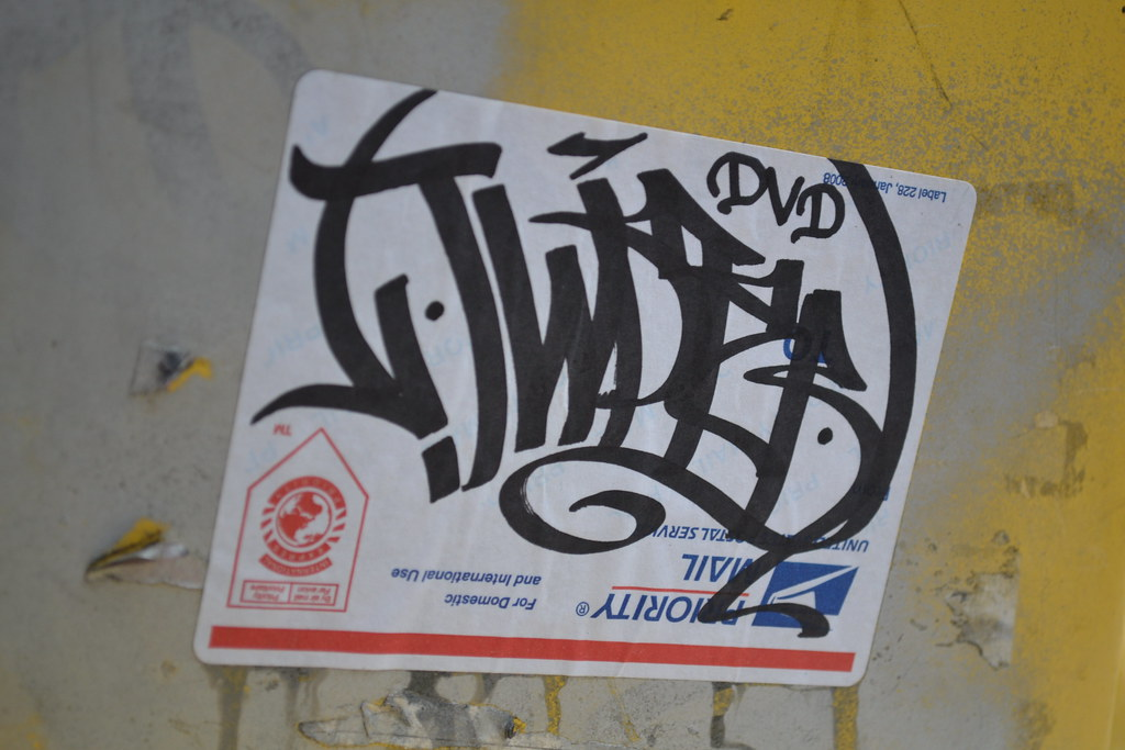 TWIST, THR, Berkeley, Sticker, Street Art, Graffiti