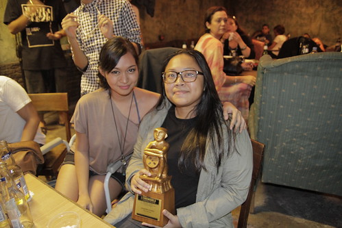 Joy Aquino with leading actress Mercedes Cabral