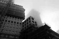 Den Haag (milov) Tags: bw mist building fog architecture construction edited denhaag thehague 21mm k20d