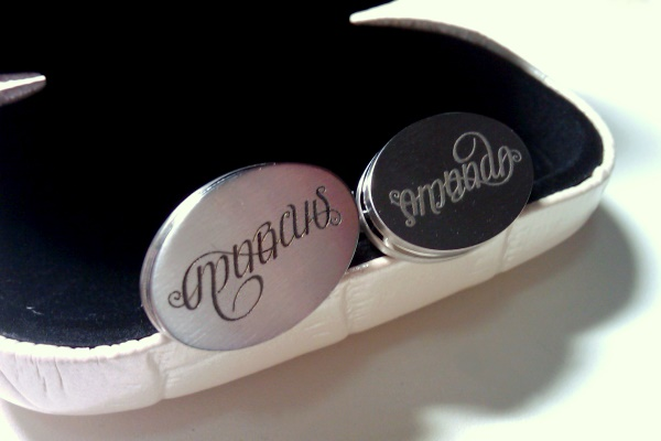 """Marcus"" & ""Amanda"" Ambigram Cuff Links 2"