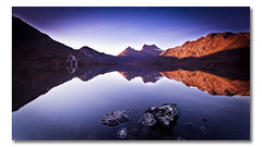 Dove Lake (IV), Cradle Mountain, Tasmania (Matthew Stewart | Photographer) Tags: park mountain lake mountains reflection water sunrise rocks dove australia national tasmania cradle 2010 photos1 photoset1