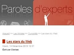 Paroles d'Expert - Les stars du web