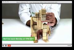 A Zombie (TeguToys) Tags: sculpture building toy wooden lego live blocks genius labcoat magnetic sustainable request ecofriendly buildingblocks woodenblocks flickrtagstegu