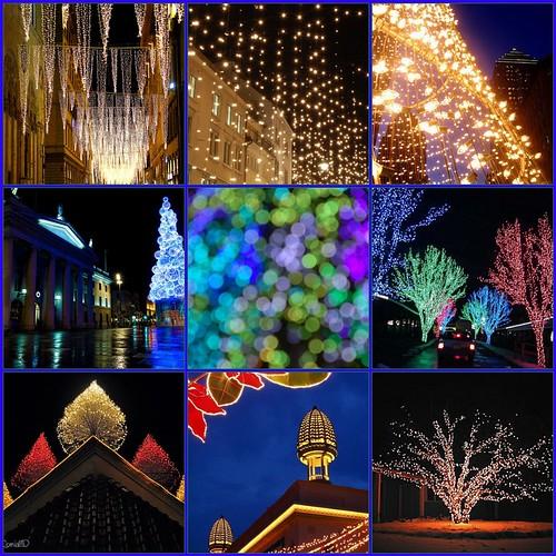 christmas lights across the world...