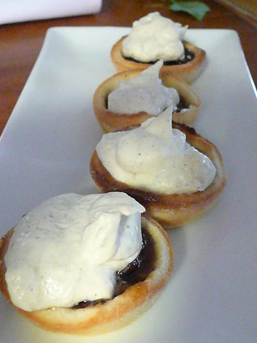 Sprout -fruit mince pie and chantilly cream