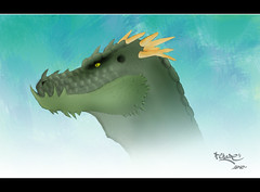 Painting a dragon (Rubén Chase) Tags: art digital speed photoshop painting advertising photography design photo dragon dinosaur cs2 ruben fine horns chase designs concept horn conceptual dibujo diseño cuernos dragón gráfico 2010 rubén dinosaurio cuerno speedpainting carbó freeflyer09 rubenchase rubénchase