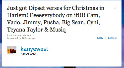 Kanye West Christmas In Harlem.New Music Kanye West Feat Cyhi The Prynce Teyana Taylor
